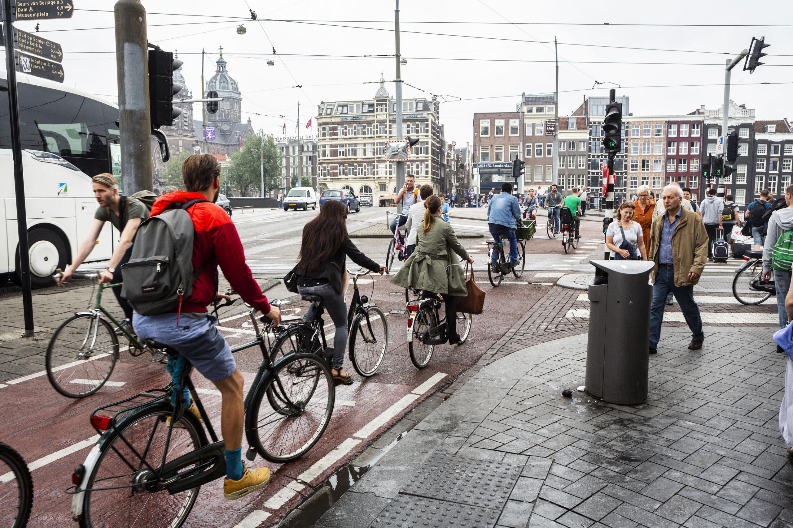 sykkel sykle Amsterdam sykkelfelter transport komme seg rundt
