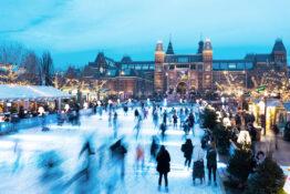 julemarked Amsterdam Museumplein sentralt stort beste anbefalt